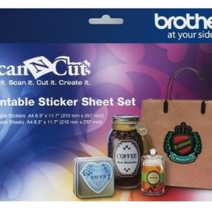 Brother ScanNCut Printbare Set Stickervellen – A4