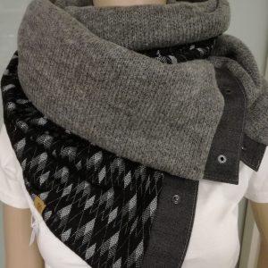 Sjaal grijs – zwart