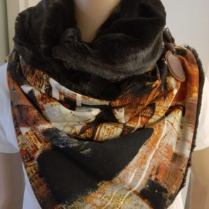 Sjaal imitatiebont – bruin