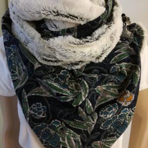 Sjaal imitatiebont – ecru