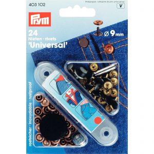 Prym 403101 – siernieten Ø9mm – oudkoper/gebronsd