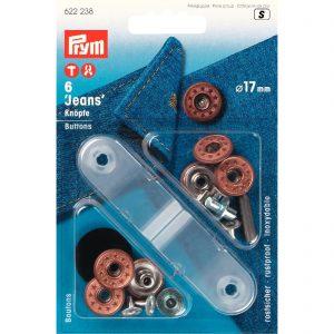 Prym 622238 – jeansknopen Ø17mm – oudbrons