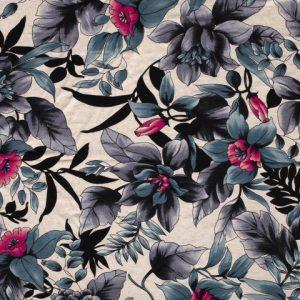Viscose jersey print flower