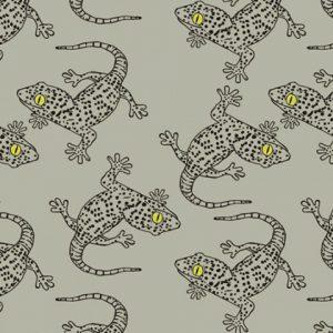 Tricot bedrukt met salamander