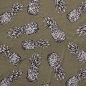Viscose Nylon met ananasprint