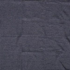 Polyester/katoen gebreid melange geblokt