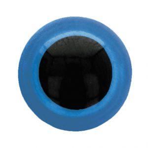 Dierenoog zwart met blauw rand