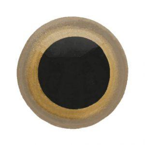 Dierenoog zwart met goudkleurige rand