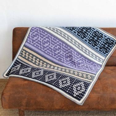 Katia Cal Element of Nature pakket met 10 bollen Merino Aran om een prachtige deken te haken