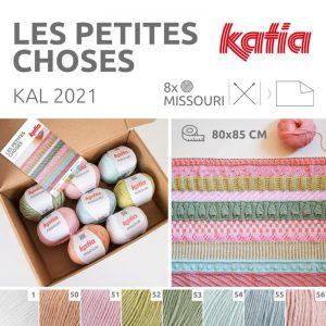 Katia Kit KAL-2021 Les Petites Choses met 8 bollen Katia Missouri