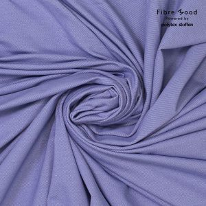 Fibre Mood stof organic denim look persian violet