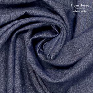 Fibre Mood stof chambray Fibre Mood stof chambray denim washed dark blue