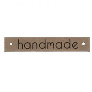 Leren label Handmade kleur 886