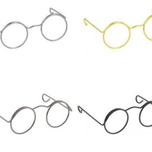 Metalen poppenbril voor knuffels en poppen