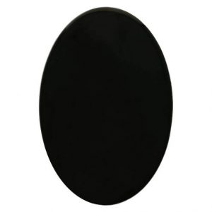 kunststof dierenoog ovaal zwart met veiligheidssluiting